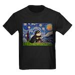 Starry Night / Pomeranian(b&t) Kids Dark T-Shirt