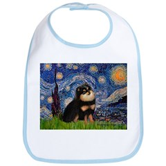 Starry Night / Pomeranian(b&t) Bib
