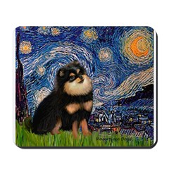 Starry Night / Pomeranian(b&t) Mousepad