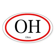 Ohio Oval Decal (Euro Style)