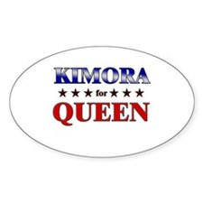 KIMORA for queen Oval Decal