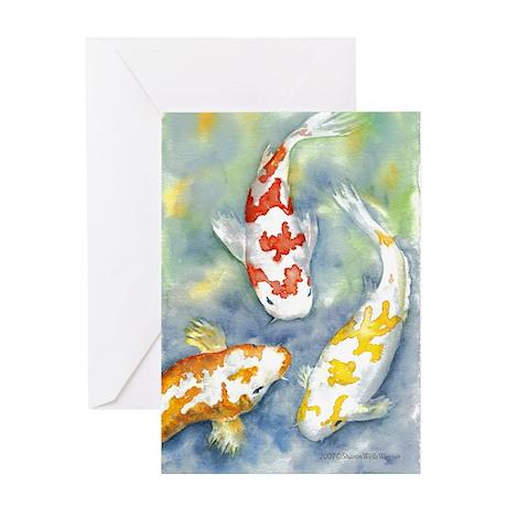 Koi Blank Greeting Card