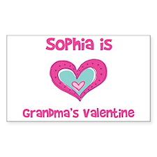 Sophia is Grandma's Valentine Sticker (Rectangular