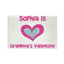 Sophia is Grandma's Valentine Rectangle Magnet