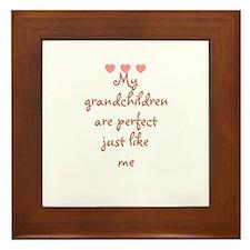 My grandchildren are perfect  Framed Tile