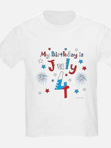 July 4th Birthday Red, White, Blue T-Shirt
