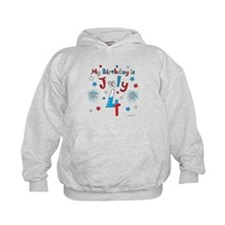 July 4th Birthday Red, White, Blue Hoodie