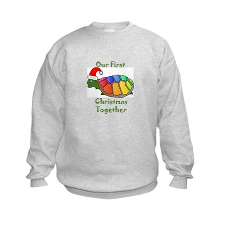 Our First Christmas Together Kids Sweatshirt