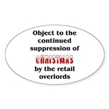 Object to the suppression of Christmas Decal