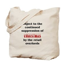 Object to the suppression of Christmas Tote Bag