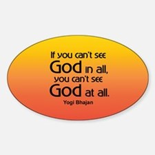 GOD IN ALL Oval Decal