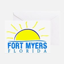 Cute Ft myers beach Greeting Card