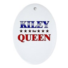 KILEY for queen Oval Ornament