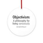 Objectivist Living Ornament (Round)