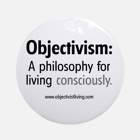 Objectivist Living  Ornament (Round)