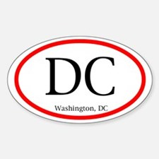 Washington, DC Oval Decal