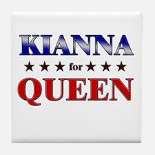KIANNA for queen Tile Coaster