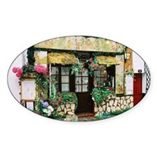 French Shop Oval Decal