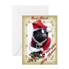 Santa Skunk Greeting Card