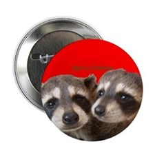 """Christmas Raccoons 2.25"""" Button (10 pack)"""