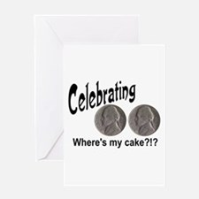 55 Cake?!?!? Greeting Card