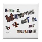 Runaway Bride/Divorce Tile Coaster