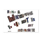 Runaway Bride/Divorce Mini Poster Print