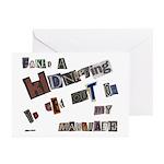 Runaway Bride/Divorce Greeting Cards (Pk of 10