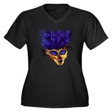Blue Spectre Women's Plus Size V-Neck Dark T-Shirt