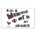 Runaway Bride/Divorce Rectangle Sticker