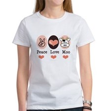 Peace Love Moo Cow Tee
