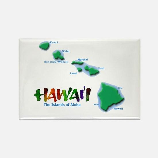 Hawaii Islands Rectangle Magnet