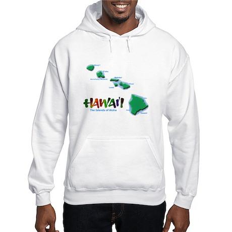 Hawaii Islands Hooded Sweatshirt
