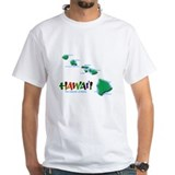 Hawaii Mens Classic White T-Shirts