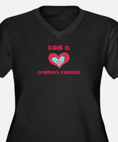Kaleb is Grandma's Valentine  Women's Plus Size V-