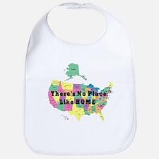 USA NO PLACE LIKE HOME Bib