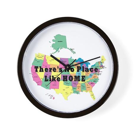 USA NO PLACE LIKE HOME Wall Clock