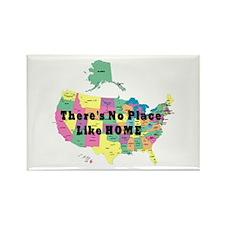 USA NO PLACE LIKE HOME Rectangle Magnet