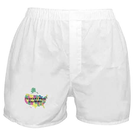 USA NO PLACE LIKE HOME Boxer Shorts