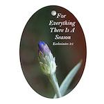 Purple Bachelor Button Flower Bud - Ornament