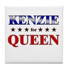 KENZIE for queen Tile Coaster