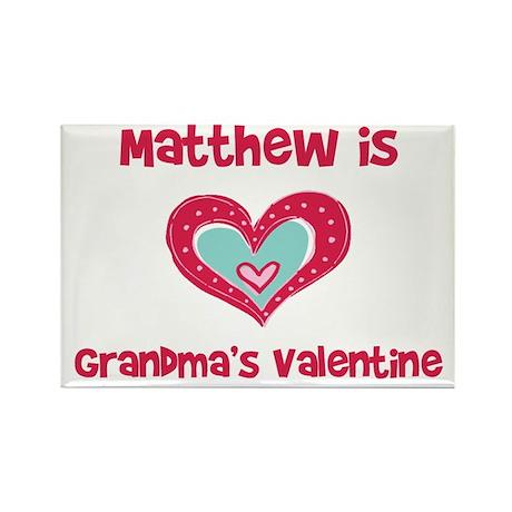 Matthew is Grandma's Valentin Rectangle Magnet (10