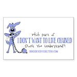 Which Part Don't You Understa Sticker (Rectangular