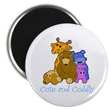 Cute and Cuddly Animals Blue Magnet
