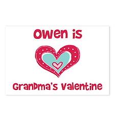 Owen is Grandma's Valentine  Postcards (Package of