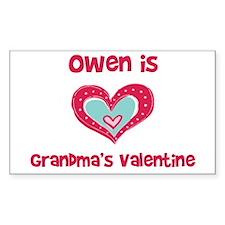 Owen is Grandma's Valentine Rectangle Decal
