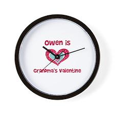 Owen is Grandma's Valentine  Wall Clock