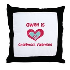 Owen is Grandma's Valentine  Throw Pillow