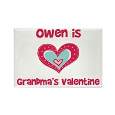 Owen is Grandma's Valentine Rectangle Magnet