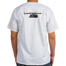 Ash Grey T-Shirt / Ironman White